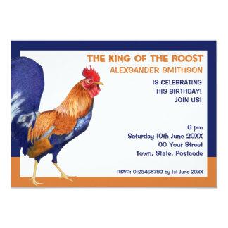 Convite de aniversário da beira do galo