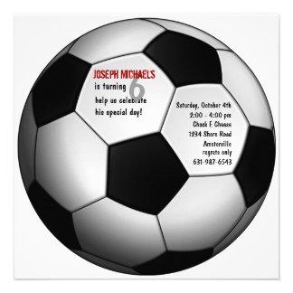 Convite de aniversário da bola de futebol