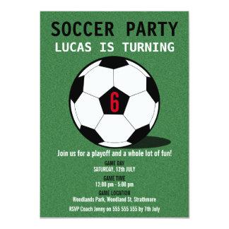 Convite de aniversário da bola de futebol do