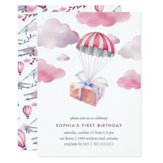 Convite de aniversário da entrega especial