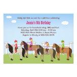 Convite de aniversário da equitação