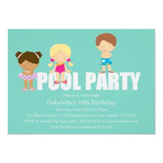 Convite de aniversário da festa na piscina   dos