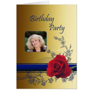 Convite de aniversário da foto cartao