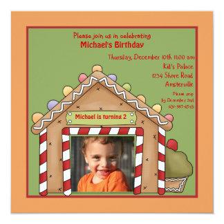 Convite de aniversário da foto da casa de