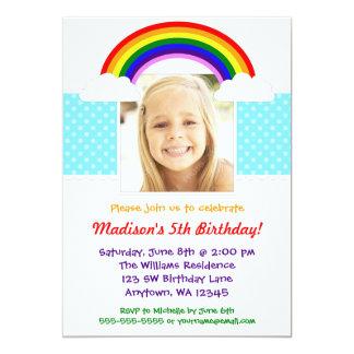 Convite de aniversário da foto da menina do