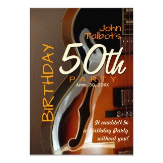 Convite de aniversário da guitarra 50th de Archtop