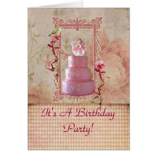 Convite de aniversário da menina da lavanda