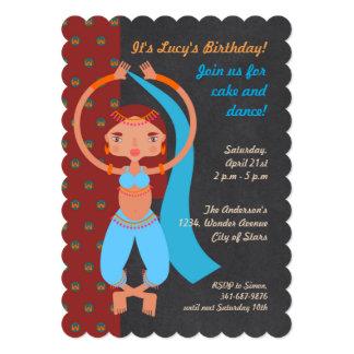 Convite de aniversário da menina das noites árabes