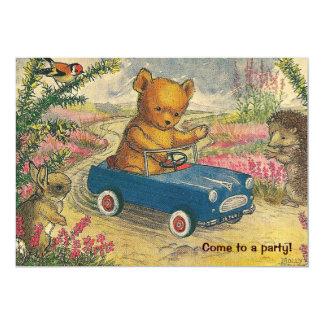 Convite de aniversário da movimentação do urso de