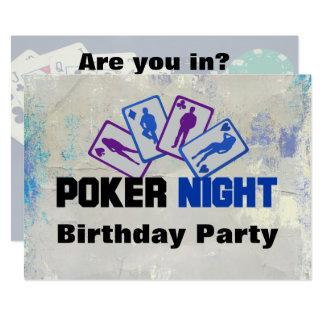 Convite de aniversário da noite do póquer