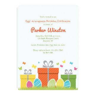 Convite de aniversário da páscoa