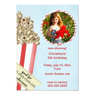 Convite de aniversário da pipoca