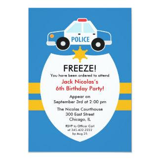 Convite de aniversário da polícia
