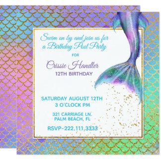 Convite de aniversário da sereia