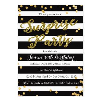 Convite de aniversário da surpresa