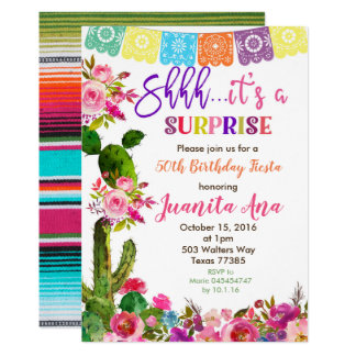 Convite de aniversário da surpresa da festa