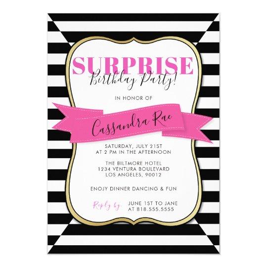 Convite De Aniversário Da Surpresa Da Mulher Zazzlecombr
