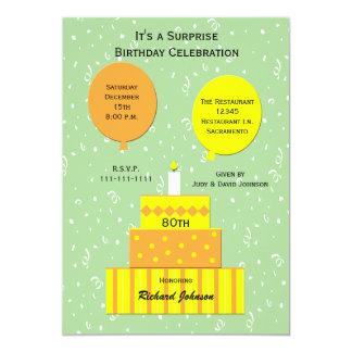 convite de aniversário da surpresa do 80