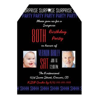 convite de aniversário da surpresa do 80 para
