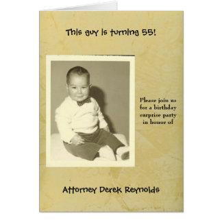 Convite de aniversário da surpresa do advogado cartão comemorativo