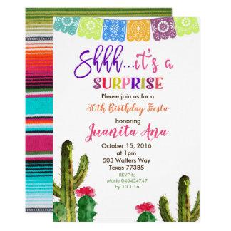 Convite de aniversário da surpresa do cacto