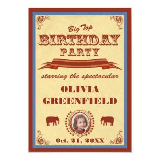 Convite de aniversário da tenda de circo