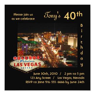 Convite de aniversário da tira de Las Vegas