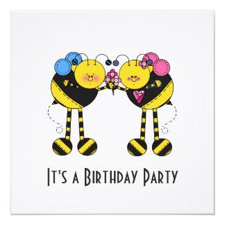 Convite de aniversário das abelhas