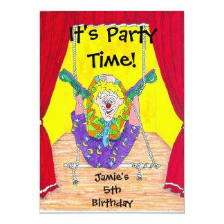 Convite de aniversário das alcaparras do palhaço