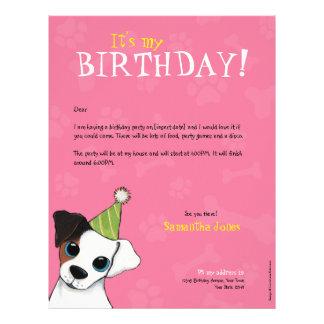 Convite de aniversário das patas & dos ossos | do  papel de carta personalizados