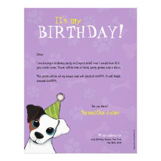 Convite de aniversário das patas & dos ossos | do  papel de carta
