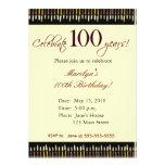 Convite de aniversário das pessoas de 100 anos
