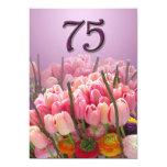 Convite de aniversário das tulipas 75th