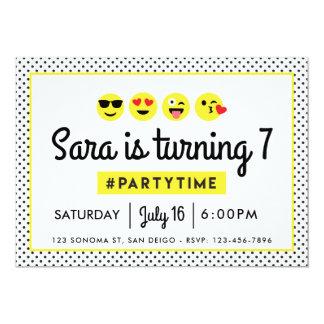 Convite de aniversário de Emoji