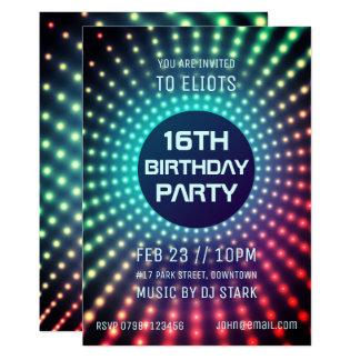 Convite de aniversário de incandescência