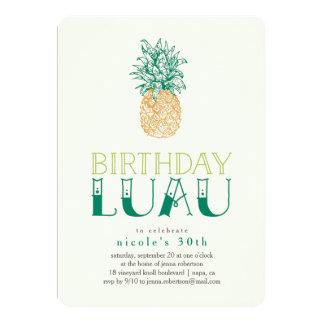 Convite de aniversário de Luau do abacaxi do