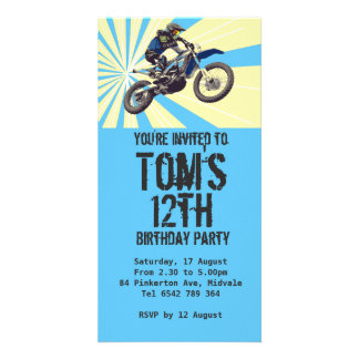Convite de aniversário de Motorcross
