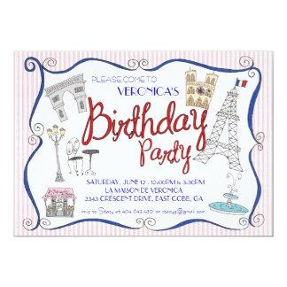 Convite de aniversário de Paris