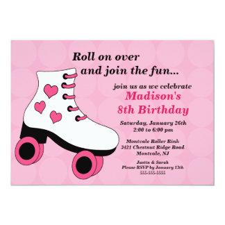 Convite de aniversário de patinagem