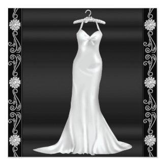Convite de aniversário de prata do vestido