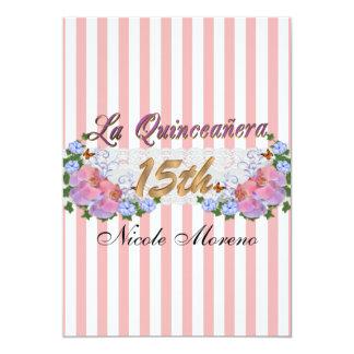 Convite de aniversário de Quinceanera do La 15o