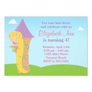 Convite de aniversário de Rapunzel