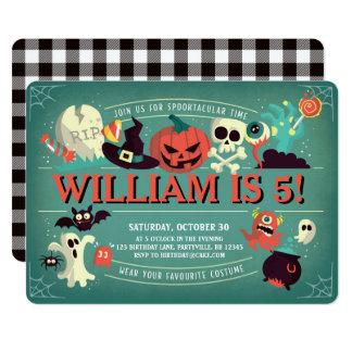 Convite de aniversário de Spooktacular