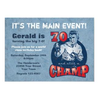 Convite de aniversário do 70 do campeão do