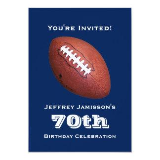 convite de aniversário do 70, futebol