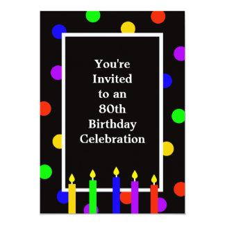 convite de aniversário do 80
