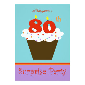 Convite de aniversário do 80 da surpresa