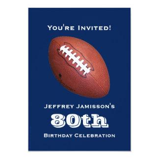 convite de aniversário do 80, futebol