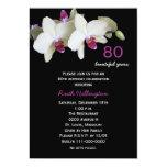convite de aniversário do 80 -- Orquídeas