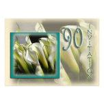 convite de aniversário do 90 - Callas brancos